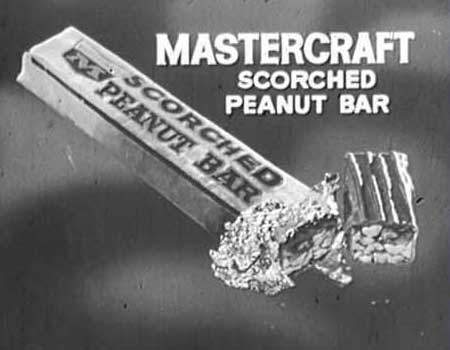 Old Scorched Peanut Bar Ad